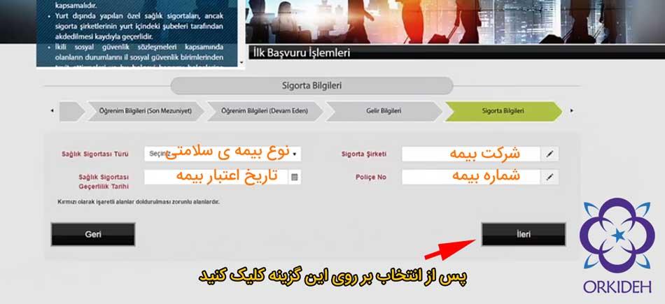 ثبت نام اقامت ترکیه