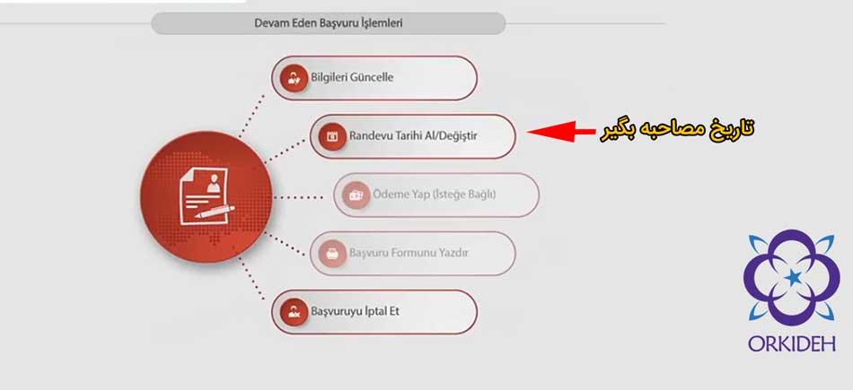آموزش تصویری پر کردن فرم راندوو اقامت ترکیه