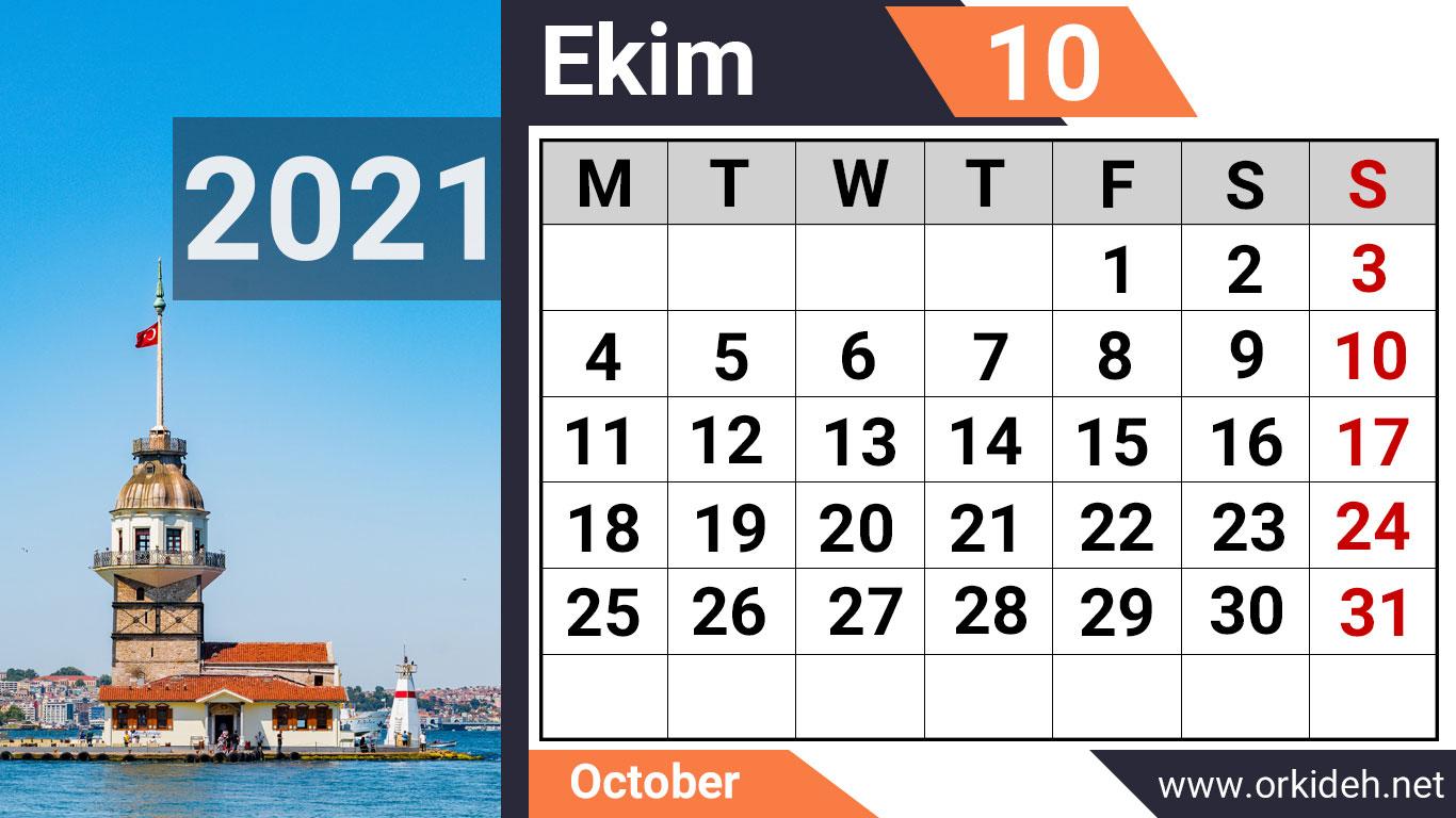 تقویم ترکیه 2021