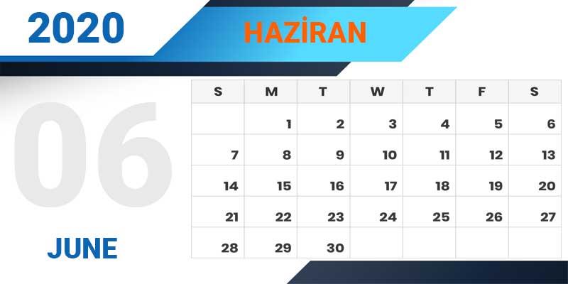 تقویم ترکیه 2020